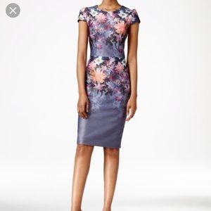 Betsy Johnson floral scuba dress.